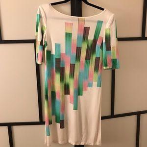 Catherine Malandrino Abstract Silk Summer Dress